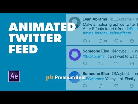 Animate A Twitter Conversation In After Effects | PremiumBeat.com