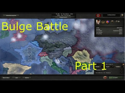 Let's Play Hearts of Iron 4 Bulge Battle Part 1 - Setup and River Defence