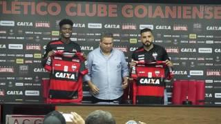 Atlético: Apresentação do zagueiro Eduardo e o volante André Castro