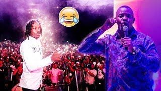 Okey Bakassi indirectly finish Naira Marley on stage reveals a secret in the music industry