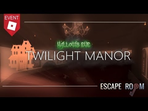 Roblox Escape Room Twilight Manor Walkthrough Youtube