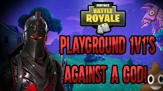 Pooping on bots In the Playground | Fortnite Battle Royale