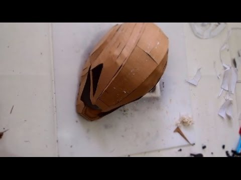94 ironman ultron helmet part 1 cardboard papermache for Cardboard armour template