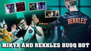 G2 MIKYX AND FNATIC REKKLES CRAZY BOTLANES DUOQ HIGHLIGHTS