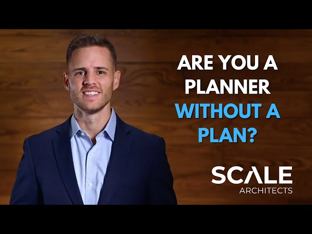 You are the master planner, but you don't have a master plan
