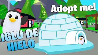 I built NEW ICE IGLOO ❄️for my PENGUIN 🐧 IN ADOPT ME! ROBLOX