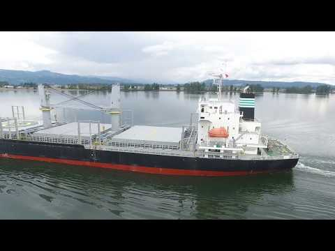 Angelic Zephyr Bulk Carrier on the Columbia