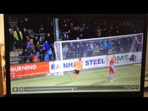 Portsmouth 2012-13 Goal #33 Liam Walker Free kick vs Scunthorpe