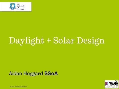 Daylight and solar design