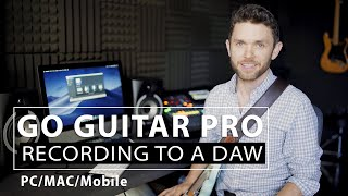 Recording to a DAW with GO Guitar Pro