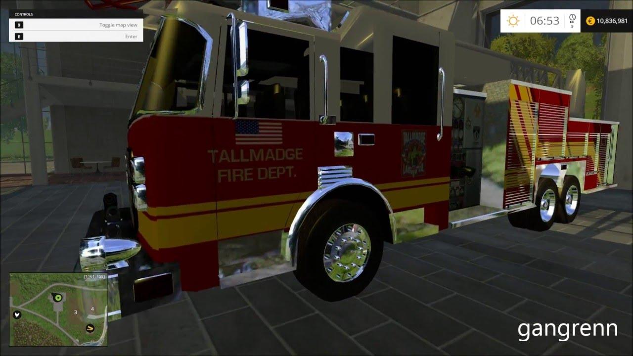 Fire Simulator 15 - Mod Spotlight: 2013 Pierce rear mount ladder truck