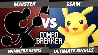 CB 2019 SSBU - SV KJS | Maister (Game & Watch) Vs. PG | Esam (Pikachu) Smash Ultimate Tournament WS