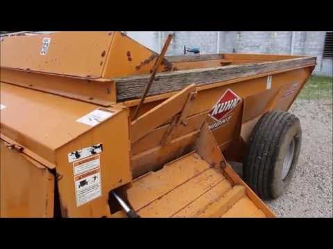 ONLINE ONLY ABSOLUTE AUCTION - Kuhn 8110 Pro Twin Slinger Manure Spreader