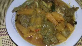 Sweet pumpkin with beef curry /রান্না করা মাংস দিয়ে মিষ্টি কুমড়োর ঝোল