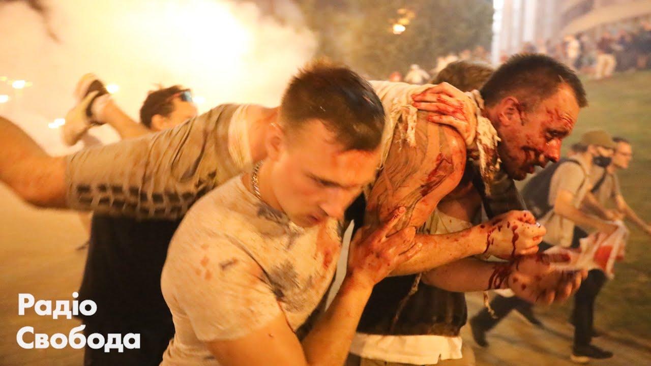 Протесты в Беларуси ночные столкновения с силовиками в Минске