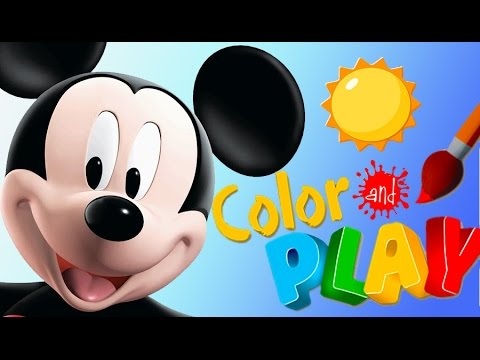 Mickey Mouse Color And Play Mickeys Kitchen