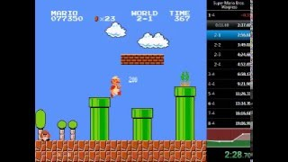 Super Mario Bros. Warpless Speedrun in 19:06.24