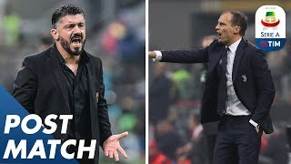 Milan 0-2 Juventus | Allegri And Gattuso Post Match Press Conference | Serie A