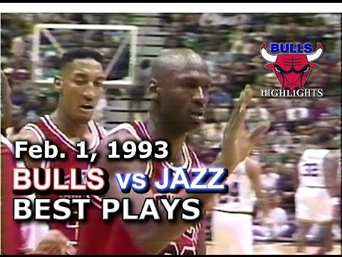 Feb 1, 1993 Bulls vs Jazz HD highlights