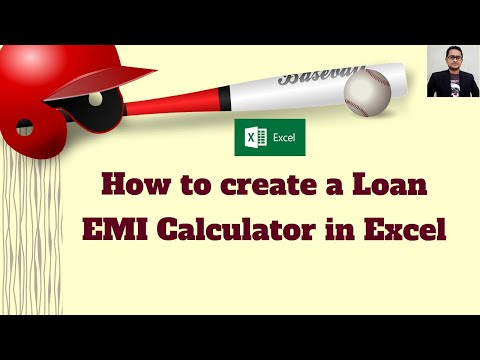 How to create a Loan EMI Calculator in Excel