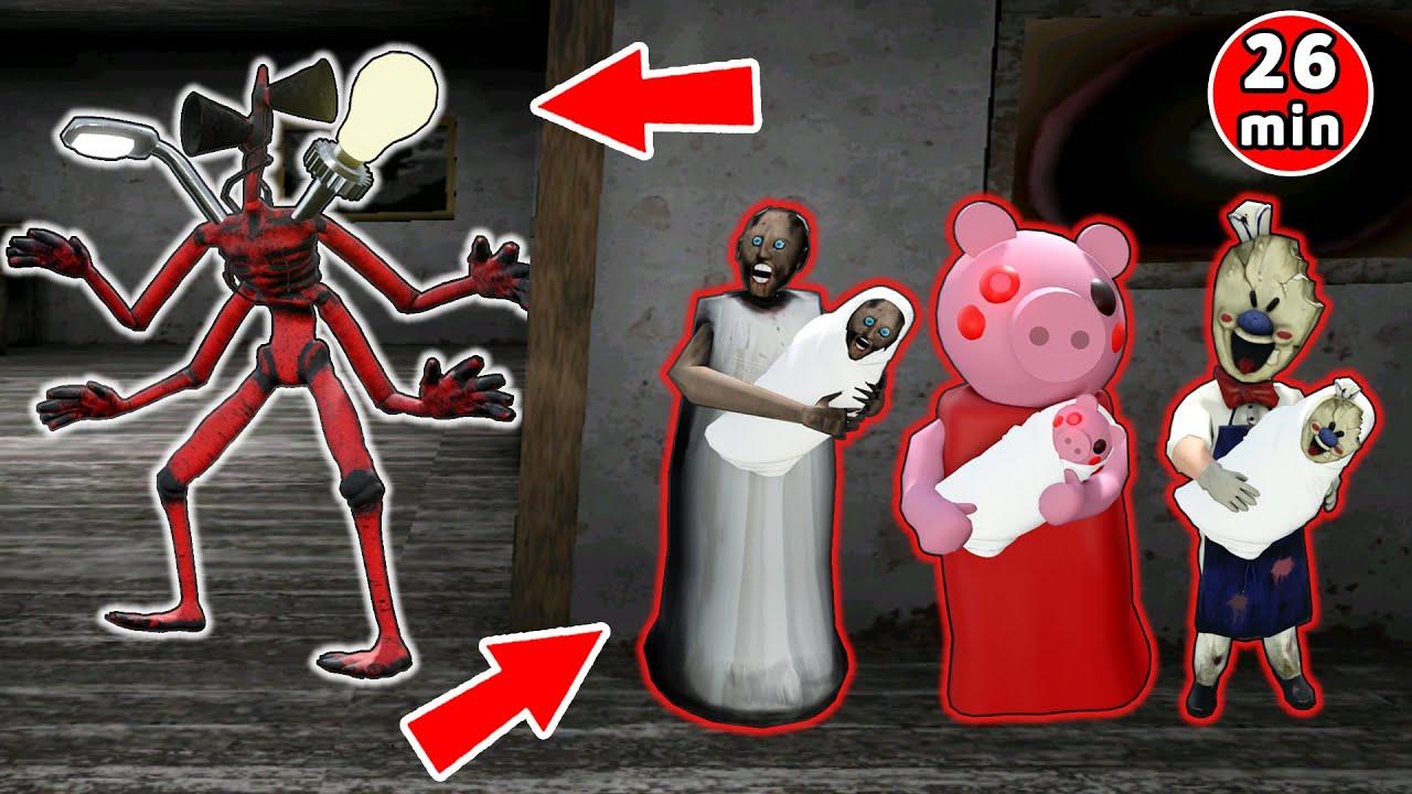 Monster Head vs Granny vs Baldi - funny horror animation parody (the funniest episodes)