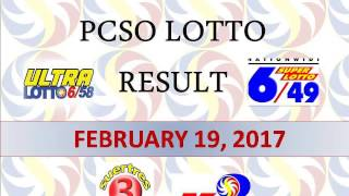 PCSO Lotto Result Today- February 19, 2017- Winning Numbers (6/58,6/49,Swertres and EZ2)