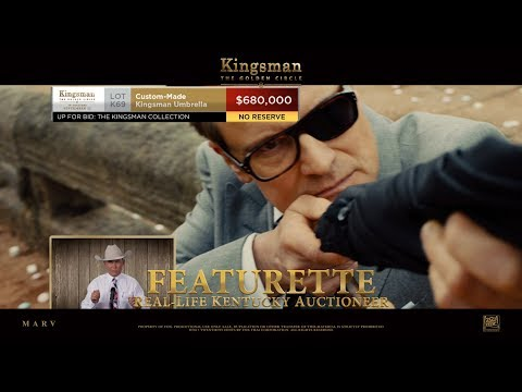 Kingsman: The Golden Circle ['Real-life Kentucky Auctioneer' Featurette in HD (1080p)] from YouTube · Duration:  1 minutes 13 seconds