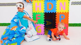 Vlad and Niki sleeping at Playhouses for kids