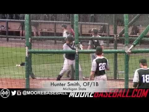 Hunter Smith Prospect Video, OF/1B, Michigan State