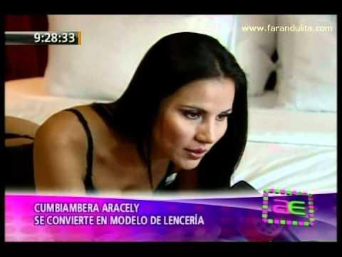 Cumbiambera Aracely Bocanegra se convierte en modelo de lenceria