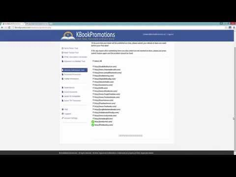 Automated Website Submission Tool V4.0 - Overview Video - KBookPromotions