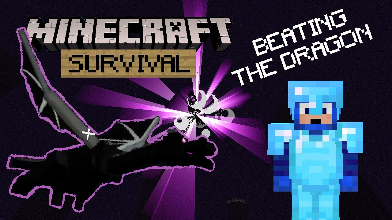 Beating The Ender Dragon! - Minecraft Survival Let's Play