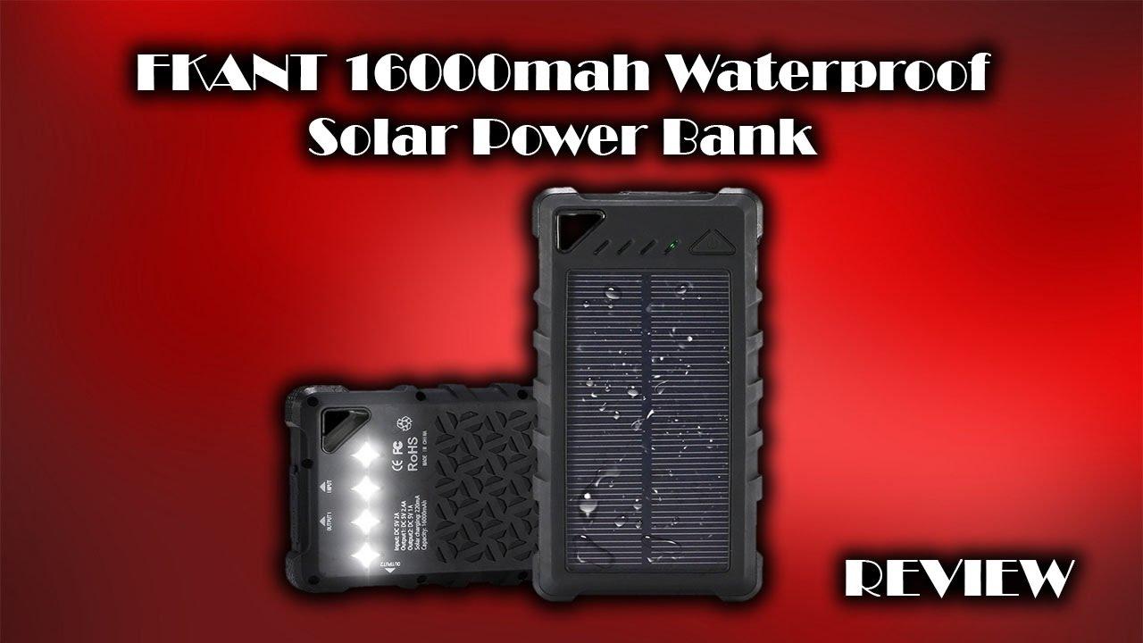 low priced c7461 89671 FKANT 16000mAh Waterproof Solar Power Bank Review