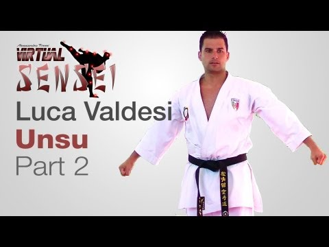 Luca Valdesi teaching kata Unsu (part 2/2) - Karate & Relax June 2013