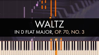 Frédéric Chopin - Waltz in D flat Major, Op. 70, No. 3 (Synthesia)