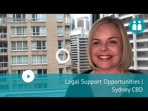 Legal Support Opportunities | Sydney CBD