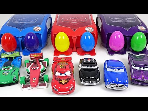 Thumbnail: Rush and Crash!! Disney Cars launcher set Surprise eggs launch play - DuDuPopTOY