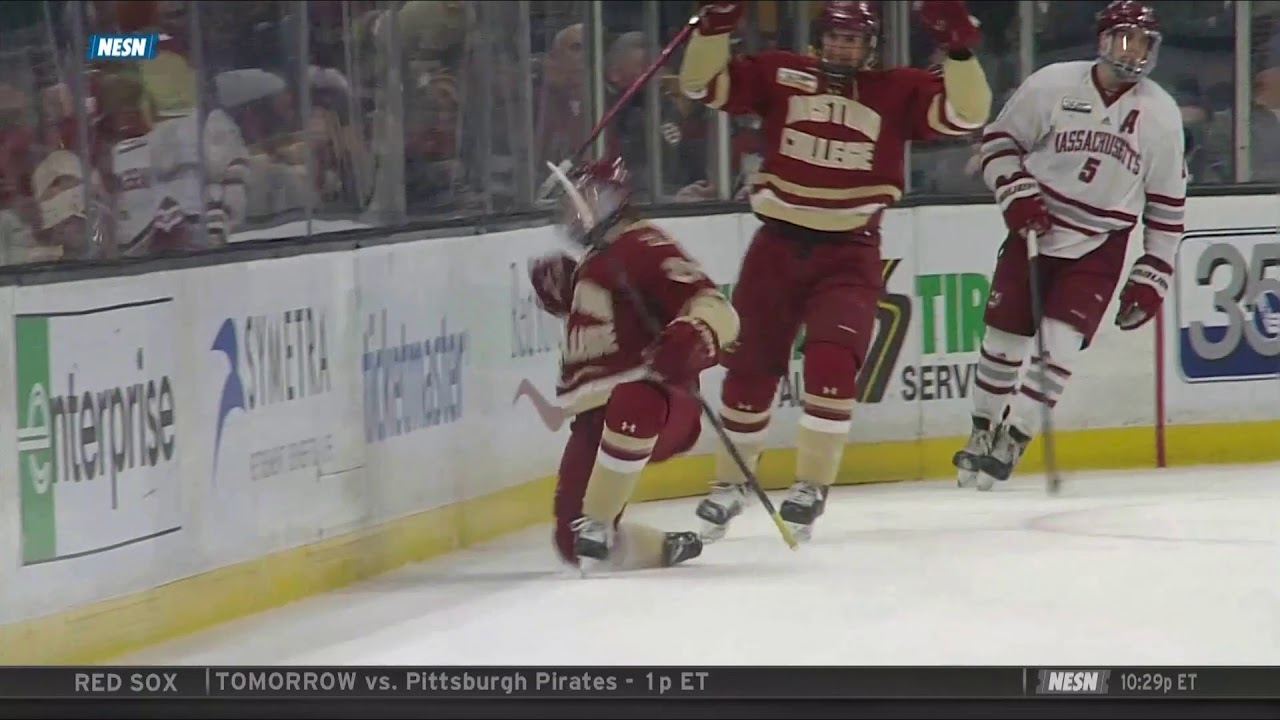 Men's Hockey: Hockey East Semifinal vs UMass Highlights (March 22, 2019)