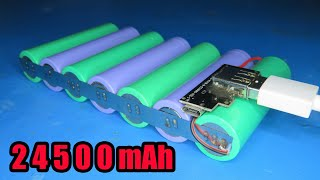 How to make 24500mAh PowerBank 2A fast charging