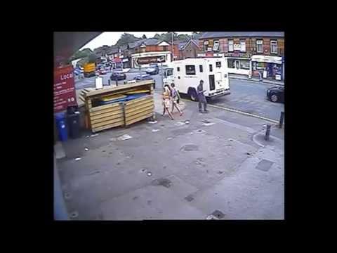 CCTV Footage Armed robbery on Loomis Truck