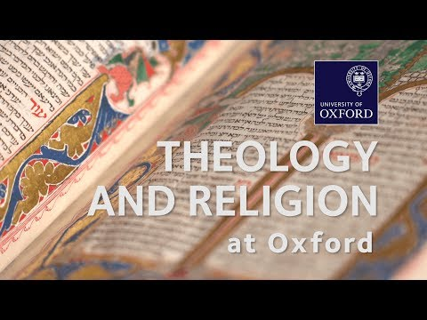 Theology and Religion at Oxford University