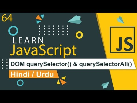 JavaScript DOM querySelector & querySelectorAll Tutorial in Hindi thumbnail