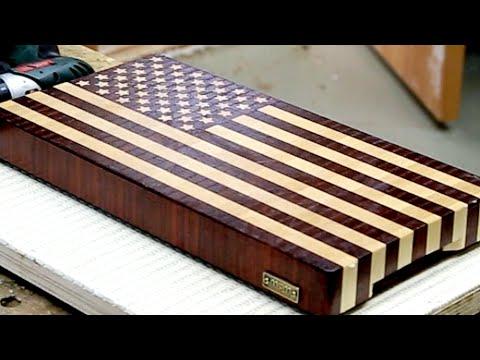 """Making a """"US flag"""" end grain cutting board"""