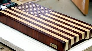 "Making A ""us Flag"" End Grain Cutting Board"
