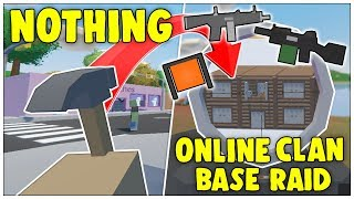 WHOLE SERVER THINKS IM HACKING! - FROM NOTHING TO ONLINE CLAN BASE RAID UNTURNED