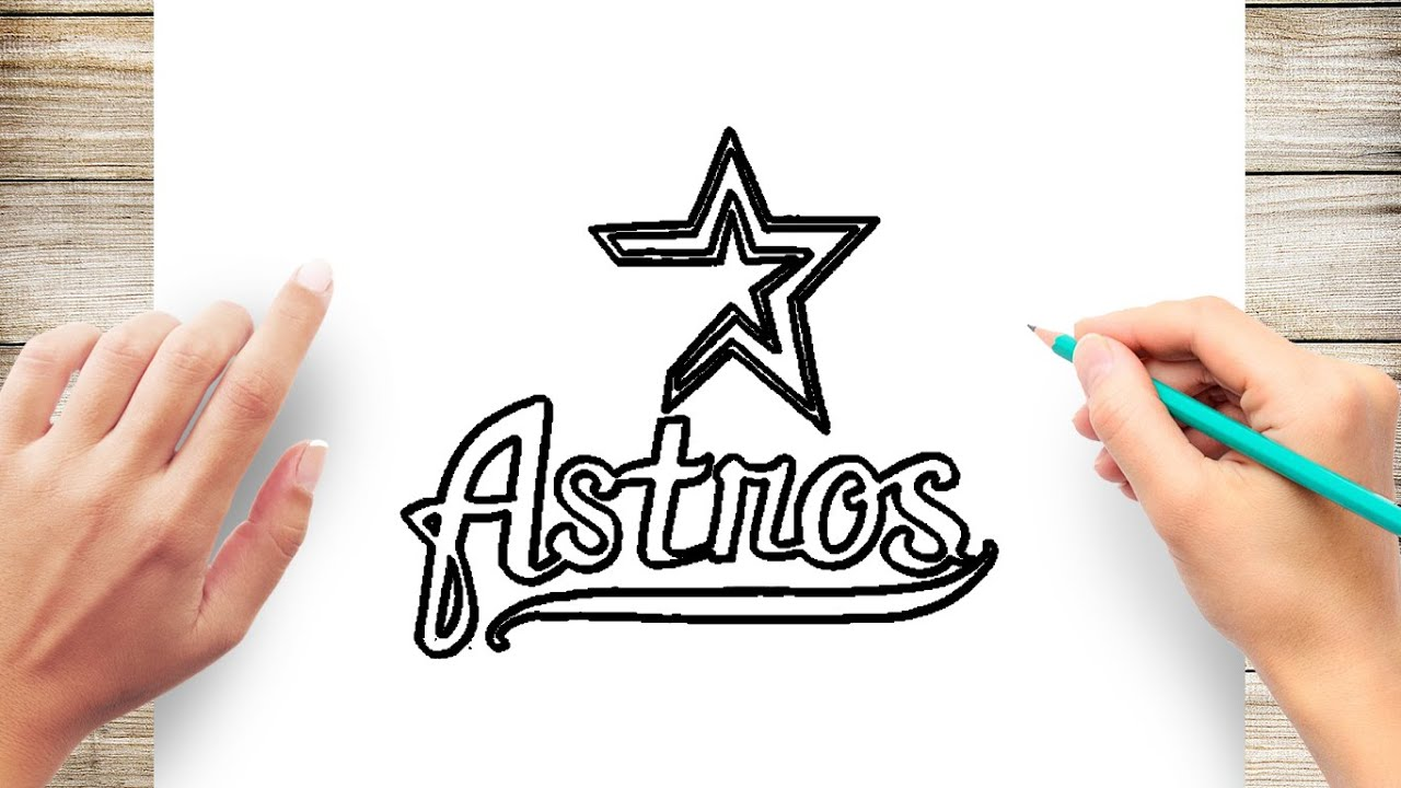 Astros Symbol >> How To Draw Astros Step By Step