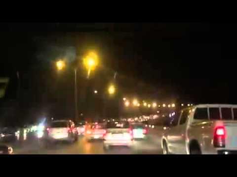 فيديو حادث سير سيارات على طريق المطار 5/2/2016 HD / شاهد ماذا حدث