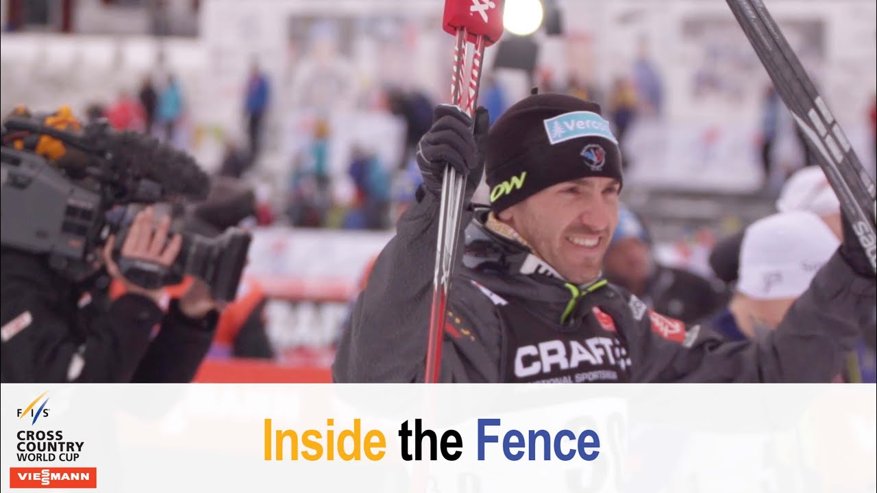 Tour de ski with the french ski team - fis cross-country - inside the fence
