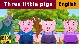 Three Little Pigs in English | Story | English Fairy Tales