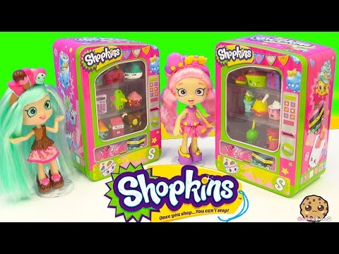 Shopkins Vending Machine Unboxing Season 4 & 3 With Shoppies Dolls Peppa Mint + Bubbleisha